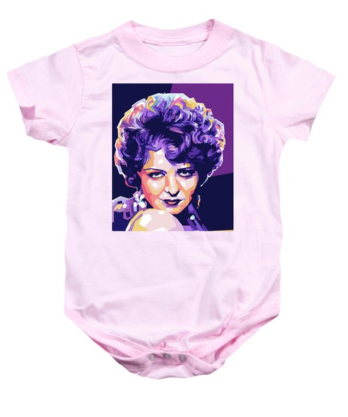 Clara Bow Pop Art Baby Onesie
