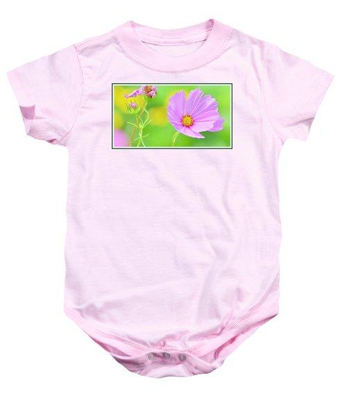 Cosmos Flower In Full Bloom, Bud Baby Onesie