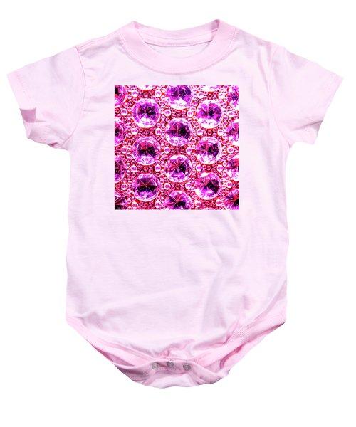 Cut Glass Beads 6 Baby Onesie