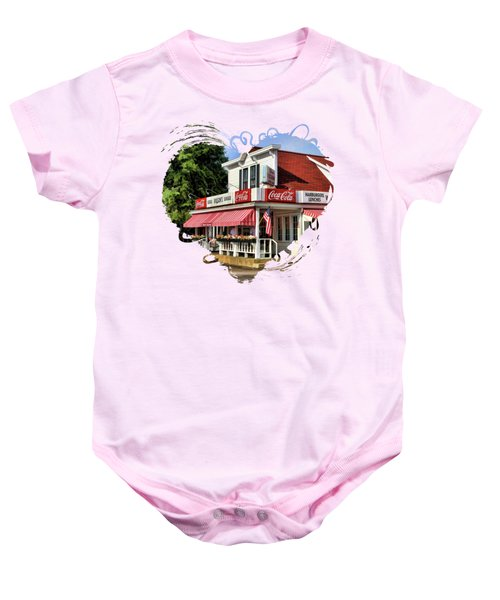 Door County Wilson's Ice Cream Store Baby Onesie