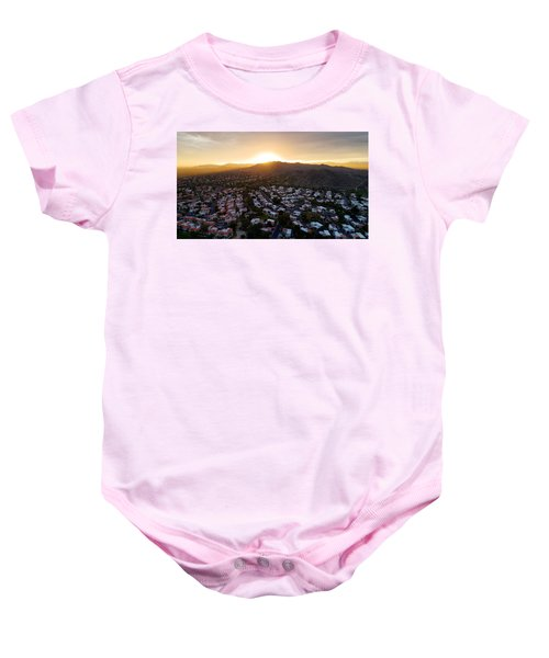 Dramatic South Mountain Sunset Baby Onesie