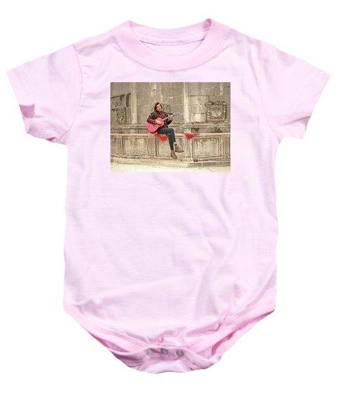 Dubrovnik Street Musician Baby Onesie