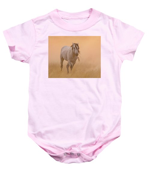Baby Onesie featuring the photograph Dusty Evening by Mary Hone
