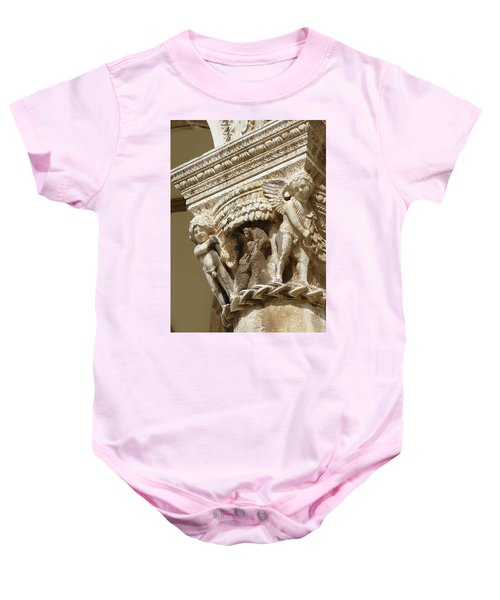 Figures On Capitals Of The Rector's Palace Baby Onesie