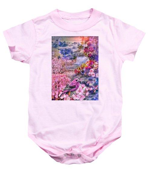 Floral Embedded Baby Onesie