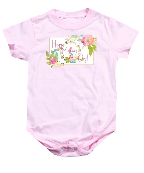 Floral Mother's Day Art Baby Onesie