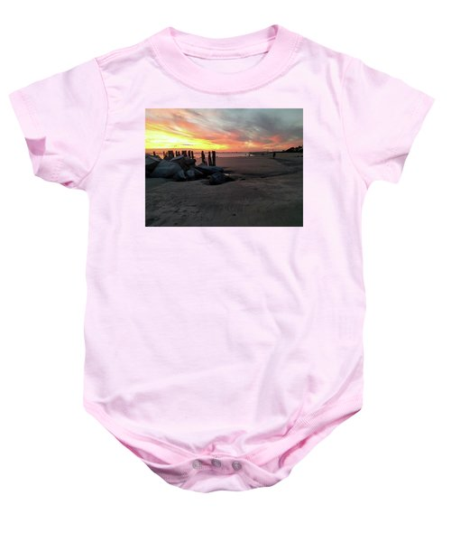 Fort Moultrie Sunset Baby Onesie