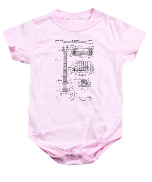 Gibson Les Paul Patent Drawing 1955 Canvas Print,photographic Print,art Print,framed Print, Baby Onesie