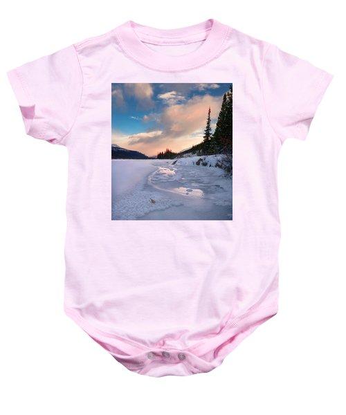 Icefields Parkway Winter Morning Baby Onesie