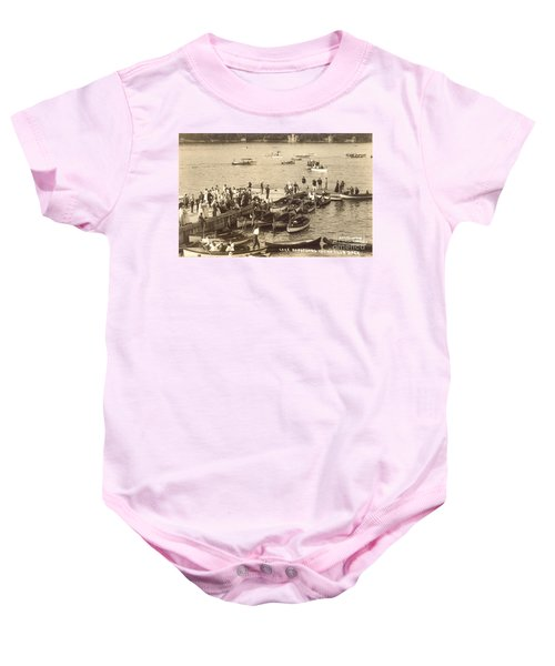 Lake Hopatcong Yacht Club Dock - 1910 Baby Onesie