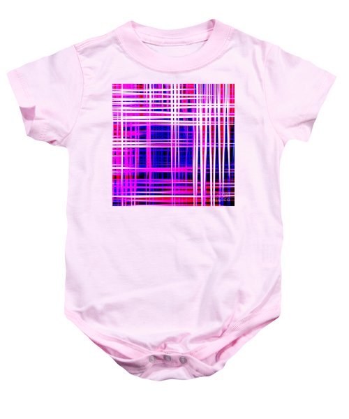 lines and squares in purple Color Waves - PL414 Baby Onesie