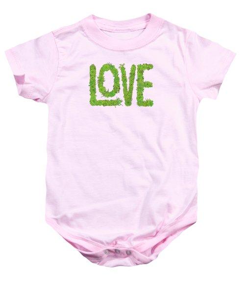 Love Succulent Dark Background Baby Onesie