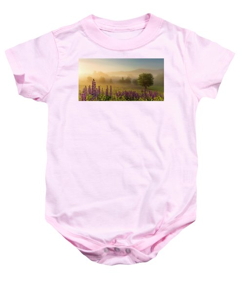 Lupine In The Fog, Sugar Hill, Nh Baby Onesie
