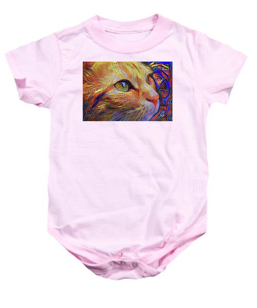 Max The Ginger Cat Baby Onesie