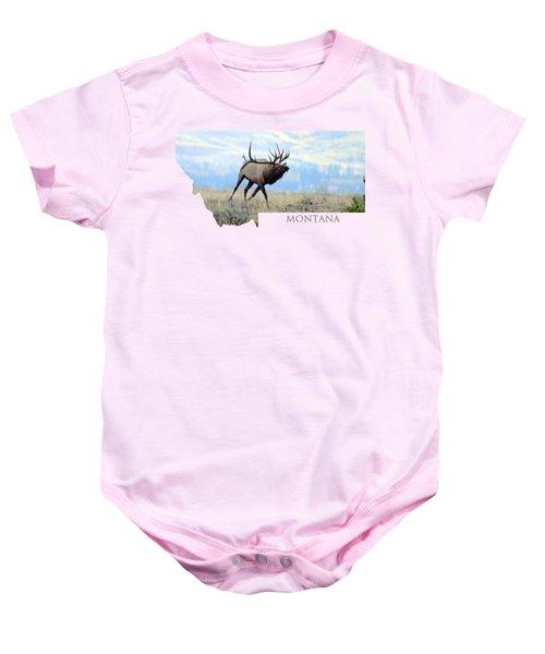 Montana Bull Elk Baby Onesie