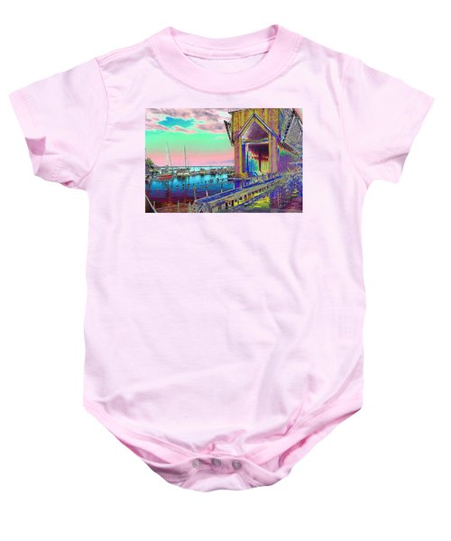 Morning Pink Marquette Ore Dock Baby Onesie