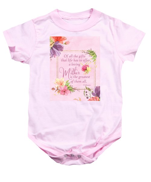 Mother Is The Greatest Gift Baby Onesie