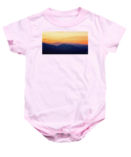Mountain Light And Silhouette  Baby Onesie