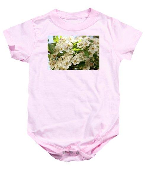 Neston.  Hawthorn Blossom. Baby Onesie