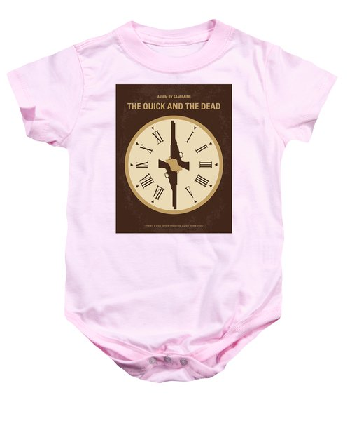 No988 My The Quick And The Dead Minimal Movie Poster Baby Onesie