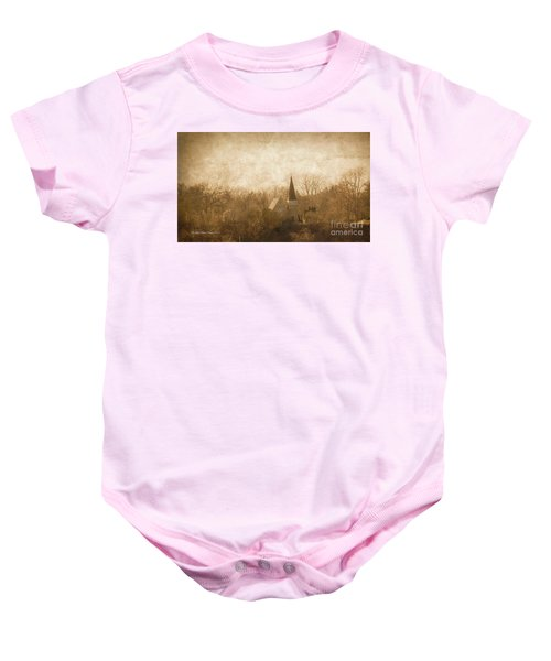 Old Church On A Hill  Baby Onesie