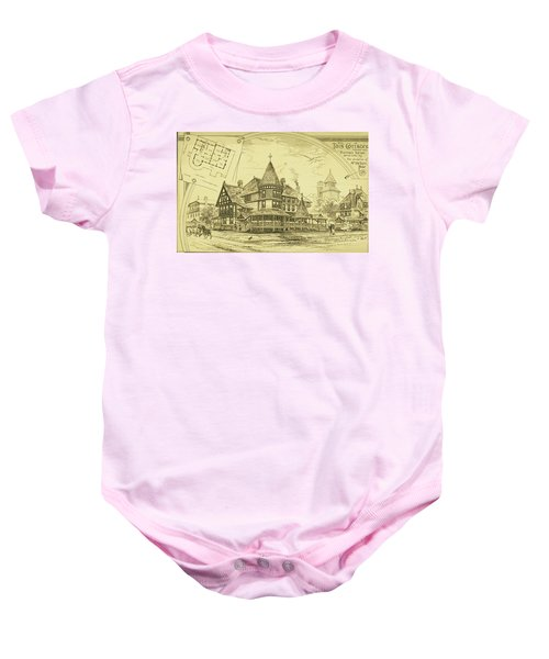 Pair Of Twin Cottages, Hastings Square, Spring Lake, Nj Baby Onesie