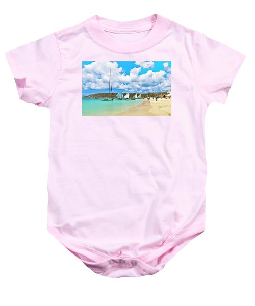 Picture Perfect Day For Sailing In Anguilla Baby Onesie