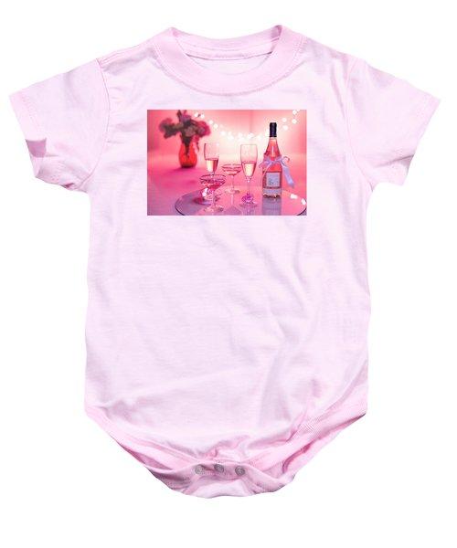 Pink Champagne Baby Onesie