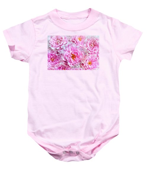 Pink Flowers Everywhere Baby Onesie