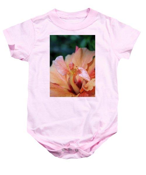 Pink Hibiscus Flower Baby Onesie