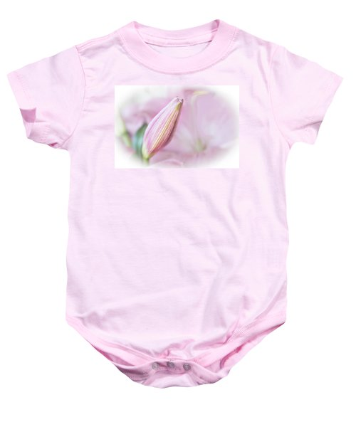 Pink Lily Baby Onesie