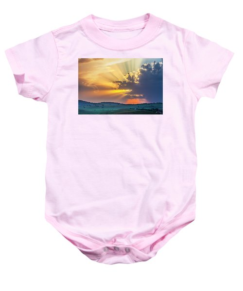 Powerful Sunbeams Baby Onesie