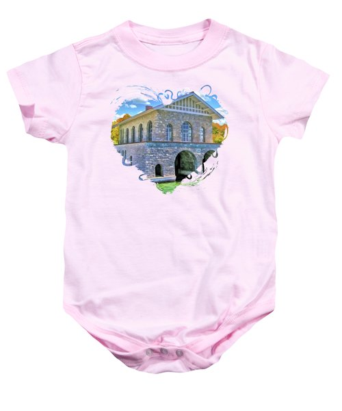 Rock Island Boathouse Baby Onesie