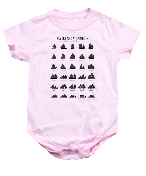 Sailing Vessel Types And Rigs Baby Onesie