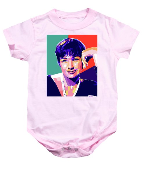 Shirley Maclaine Pop Art Baby Onesie