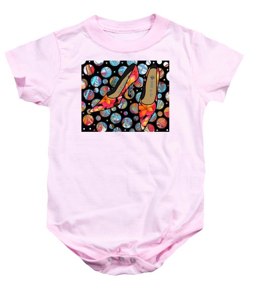 Shoes By Joan - Frangipani Pattern Pumps Baby Onesie