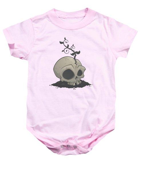 Skull Garden Baby Onesie