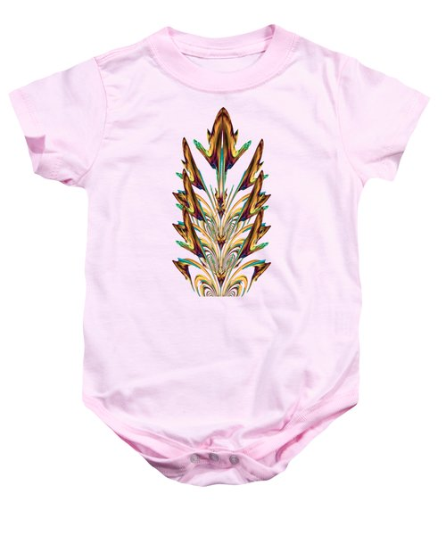 Spritual Bird Sitting On The Peacock Feather Baby Onesie