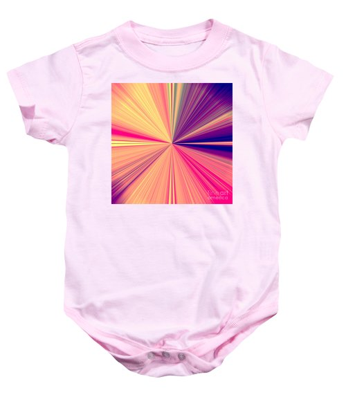 Starburst Light Beams In Abstract Design - Plb457 Baby Onesie