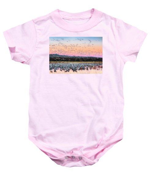 Sunrise At The Crane Pool Baby Onesie