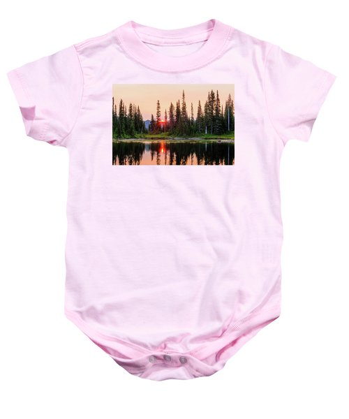 Sunrise From The Reflection Lake Baby Onesie