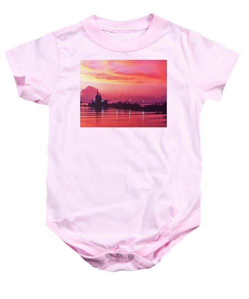 Temple On The Sea Baby Onesie