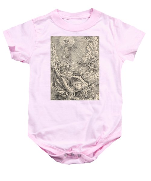 The Body Of Christ Carried By Angels Towards Heaven, 1516  Baby Onesie