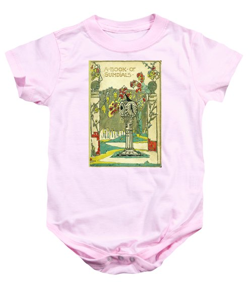 Cover Design For The Book Of Old Sundials Baby Onesie