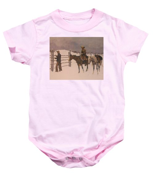 The Fall Of The Cowboy Baby Onesie