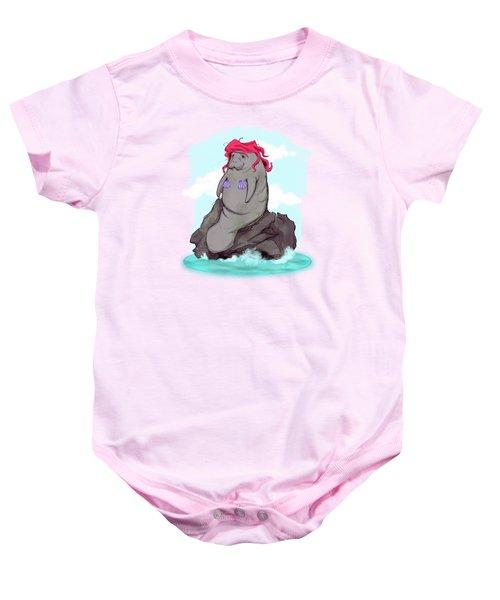 The Little Manatee  Baby Onesie