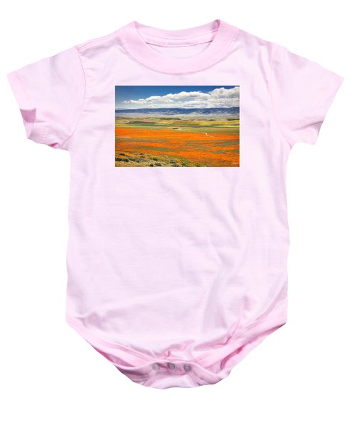The Road Through The Poppies 2 Baby Onesie
