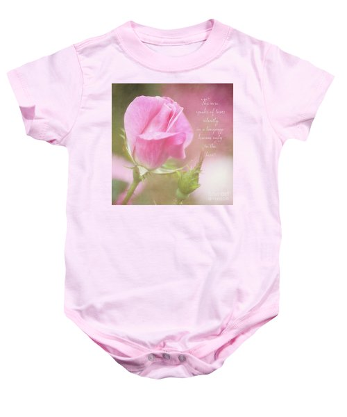 The Rose Speaks Of Love Photograph Baby Onesie