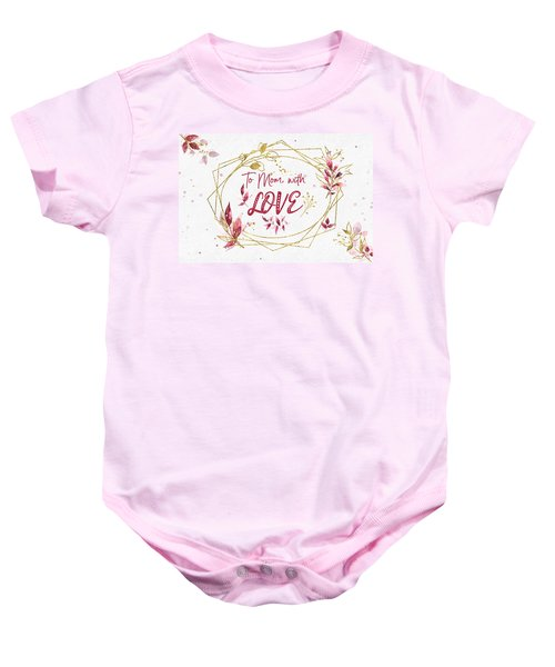 To Mom, With Love Baby Onesie