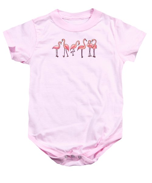 Tropical Flamingos Baby Onesie